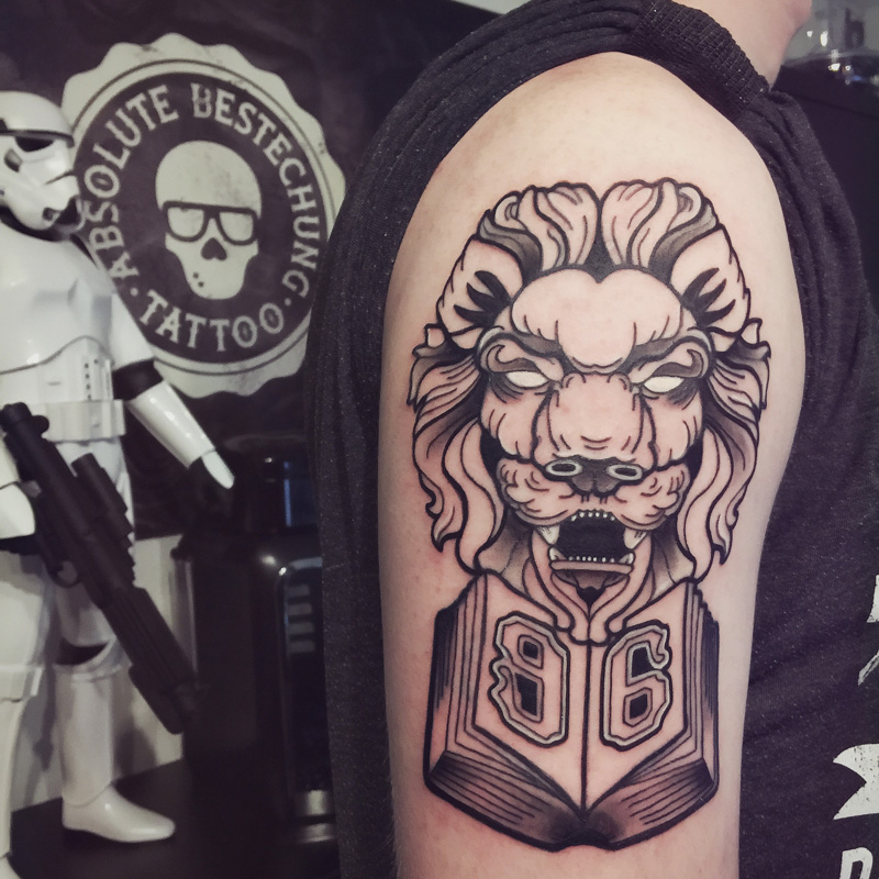 lion 96 tattoo
